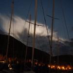 Nachthimmel über der Werft