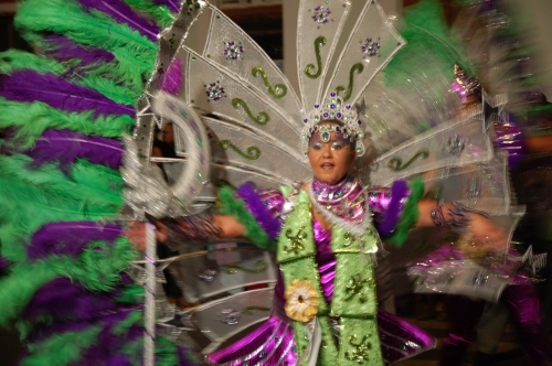 Mindelo Karneval Vortänzerin