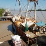 Fischtrawler Entladung