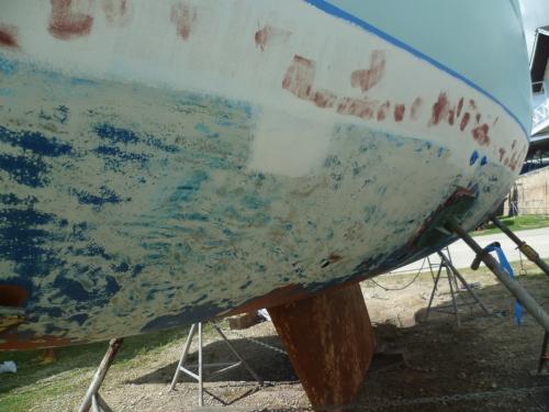 Unterwasserschiff abschleifen Sadler 32